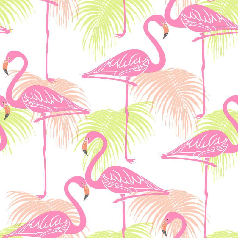 Fine Decor Flamingo Pink/Green Wallpaper - FD42213