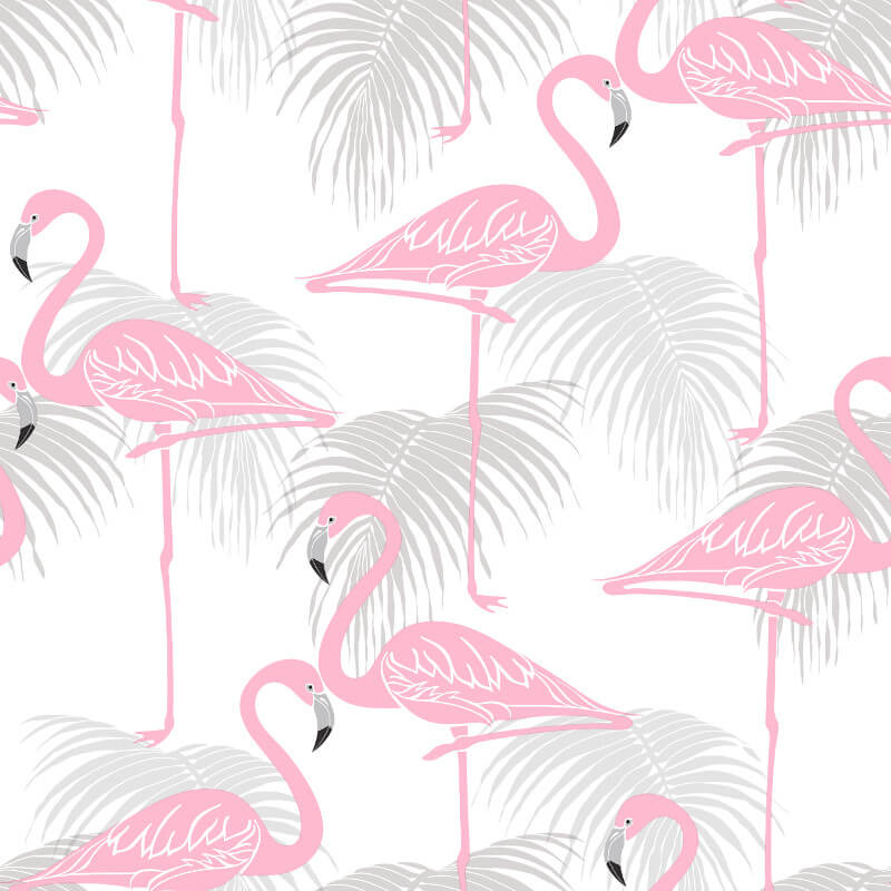 Fine Decor Flamingo Pink/Grey Wallpaper - FD42215