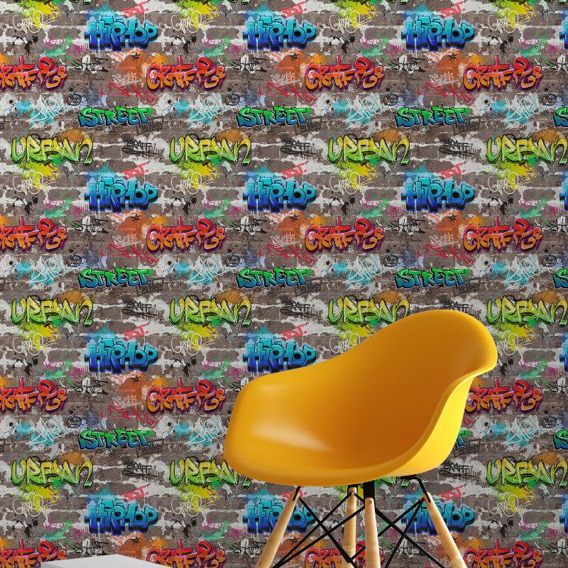 Fine Decor Graffiti Multi Wallpaper - FD41582