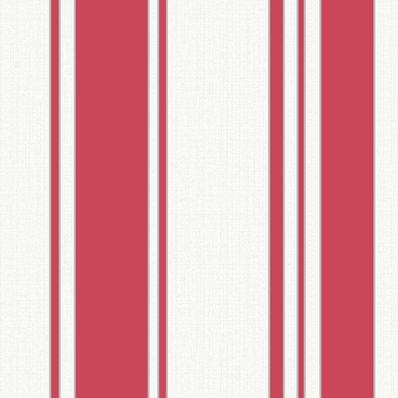 Fine Decor Isobelle Stripe Red/Silver Wallpaper - FD41941