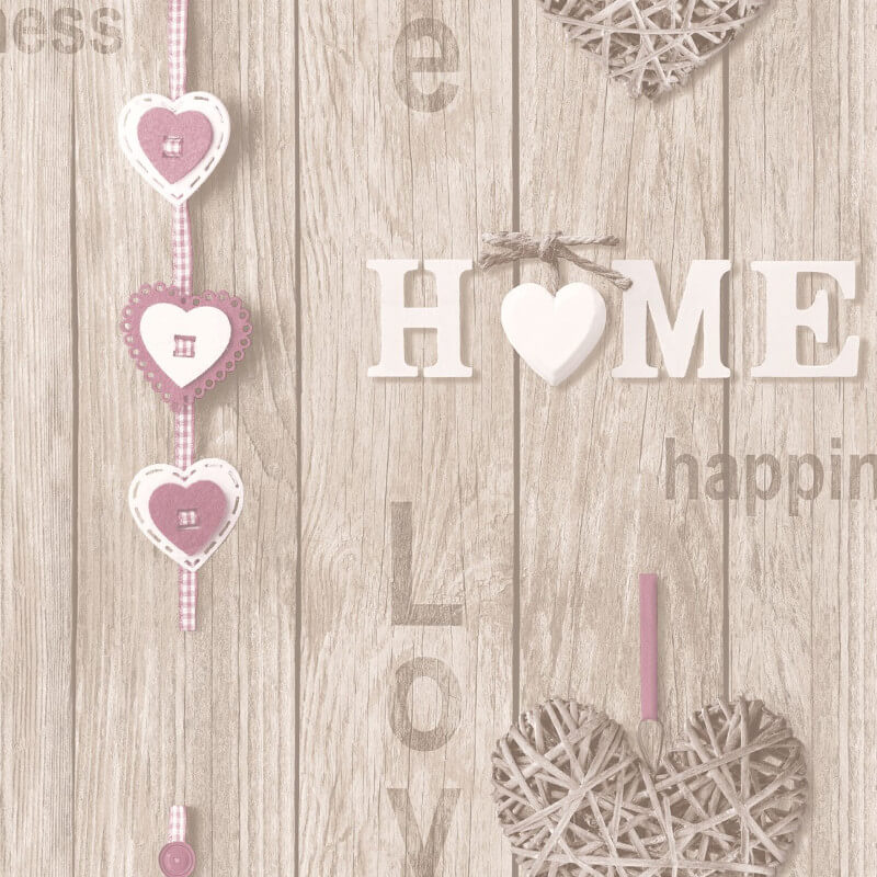 Fine decor love your home lilac beige wallpaper fd41720 for Fine home decorations