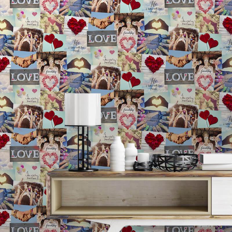 Fine Decor Novelty Festival Collage Multi Wallpaper - FD41916
