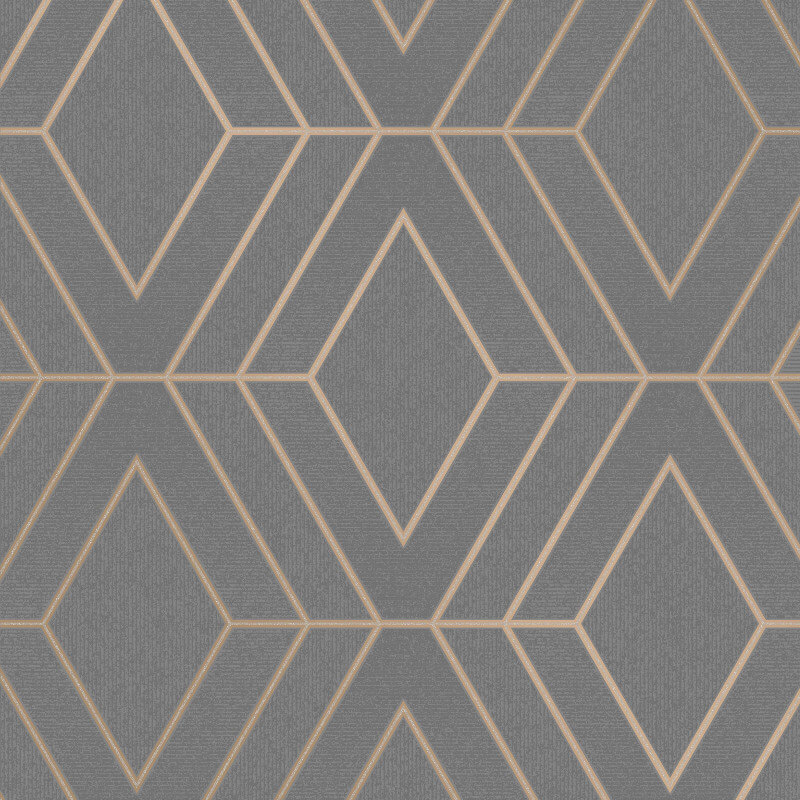 Fine Decor Pulse Diamond Charcoal Metallic Glitter Wallpaper - FD42352