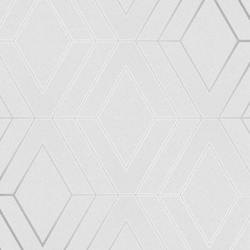 Fine Decor Pulse Diamond Silver Metallic Glitter Wallpaper - FD42340