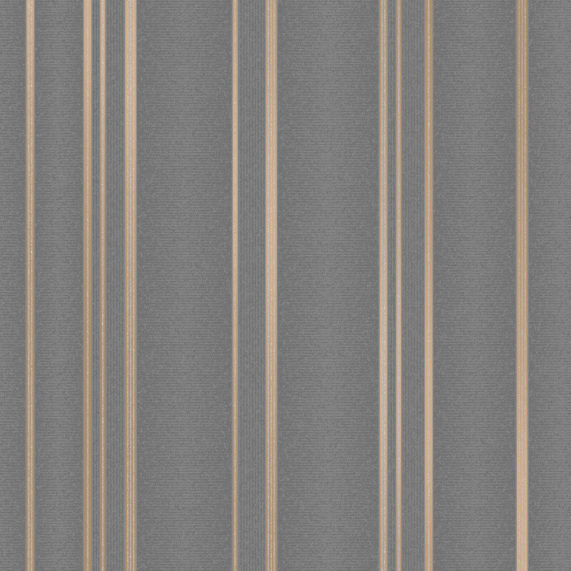Fine Decor Pulse Stripe Charcoal Metallic Glitter Wallpaper - FD42351