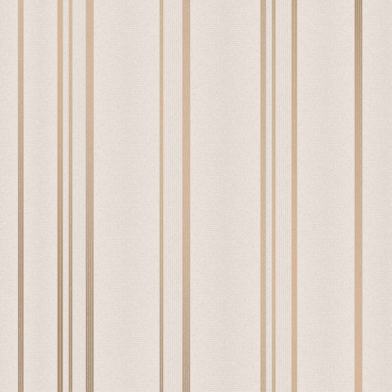 Fine Decor Pulse Stripe Taupe Metallic Glitter Wallpaper - FD42347