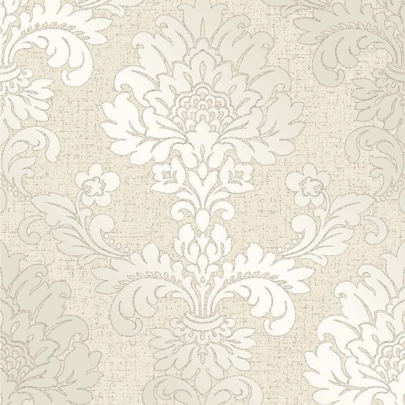 Fine decor quartz damask gold glitter wallpaper fd41970 for Black white damask wallpaper mural
