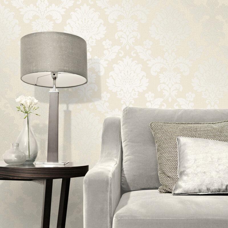 Fine Decor Quartz Damask Gold Glitter Wallpaper - FD41970
