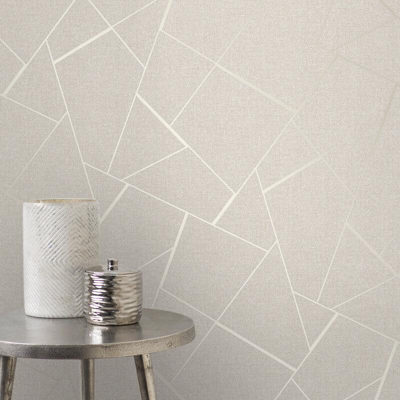 Fine Decor Quartz Fractal Gold Glitter Wallpaper - FD42281