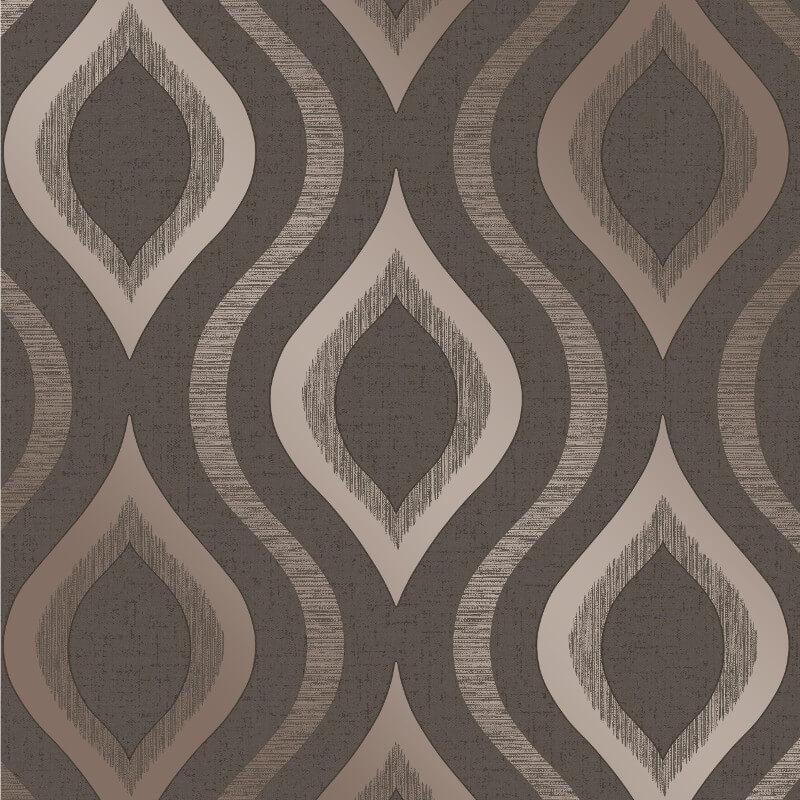Fine Decor Quartz Geo Bronze Glitter Wallpaper - FD41982
