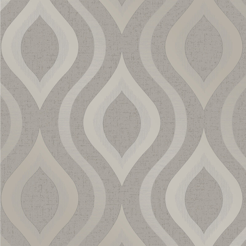 Fine Decor Quartz Geo Pewter Glitter Wallpaper - FD41978