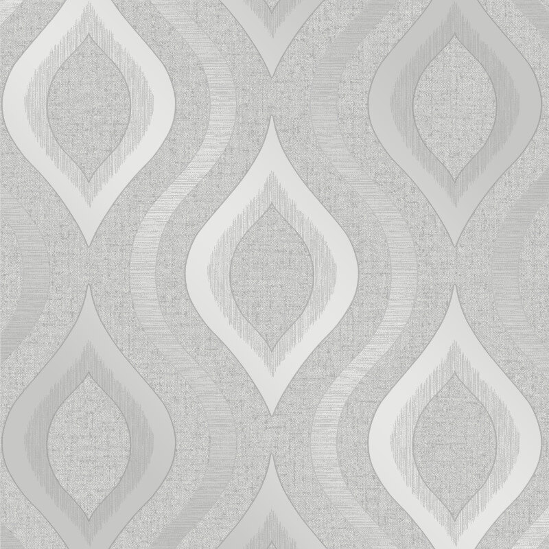 Fine Decor Quartz Geo Silver Glitter Wallpaper - FD41968