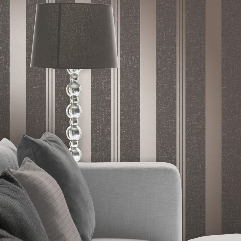 Fine Decor Quartz Stripe Bronze Glitter Wallpaper - FD41981