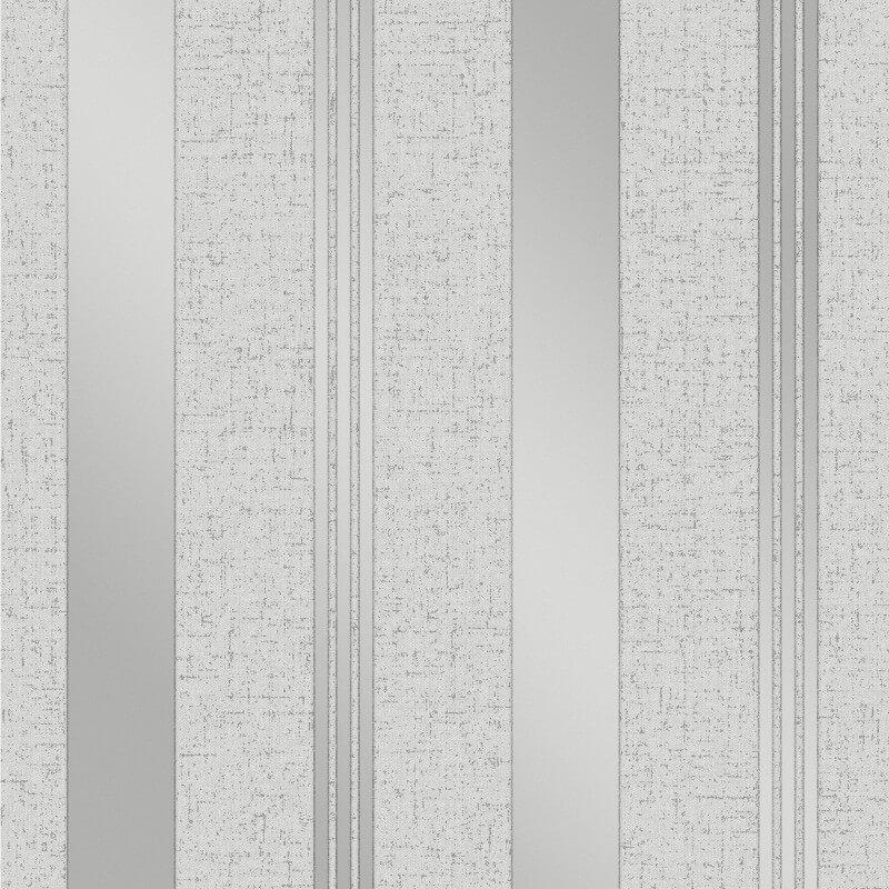 Fine Decor Quartz Stripe Silver Glitter Wallpaper - FD41967