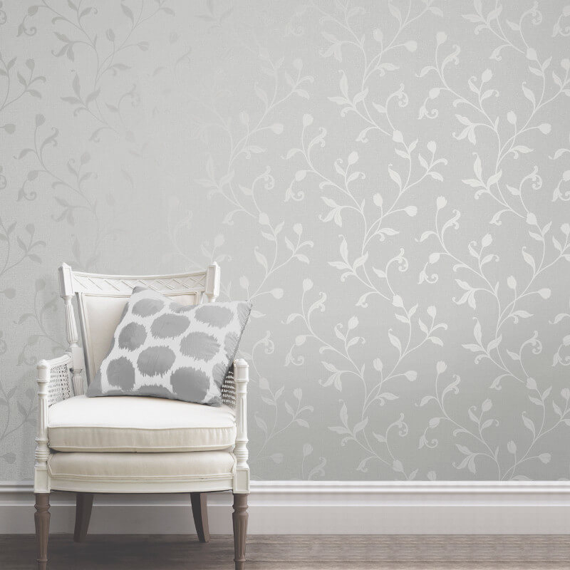 Fine Decor Quartz Trail Silver Glitter Wallpaper - FD42201