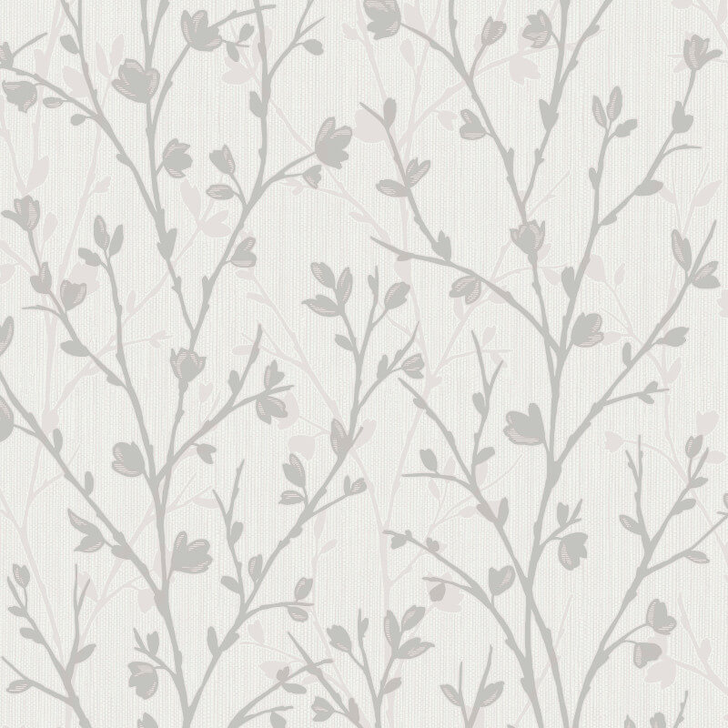 Fine Decor Twiggy Tree Grey Wallpaper - FD42161