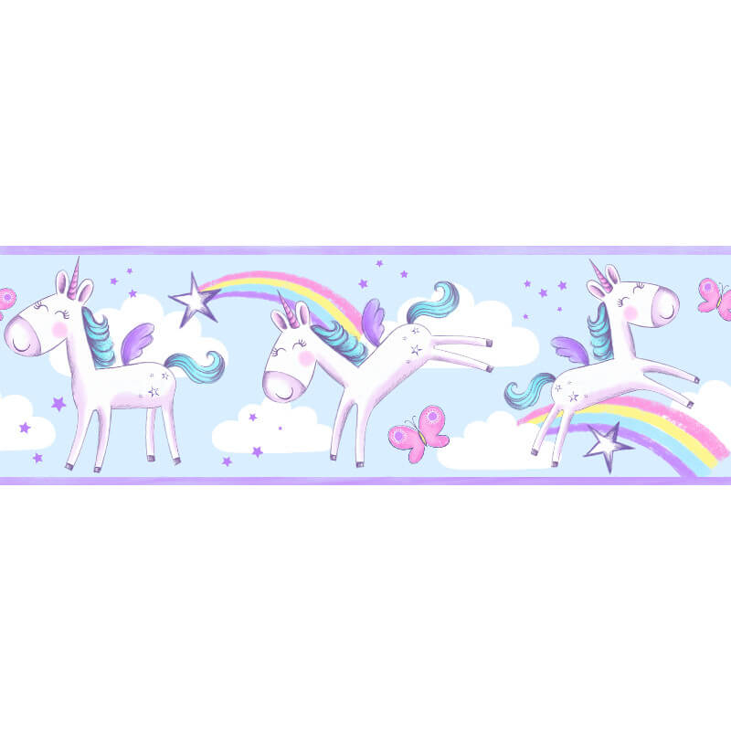 Fine Decor Unicorn Multi Wallpaper Border - BO41911