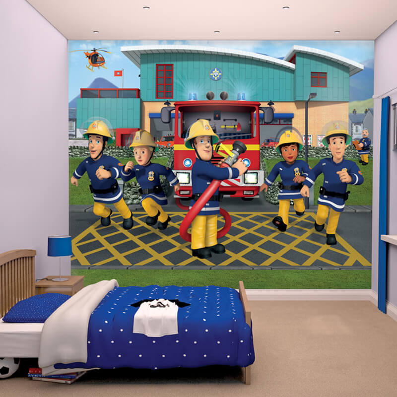 Walltastic Fireman Sam Wallpaper Mural - 43770