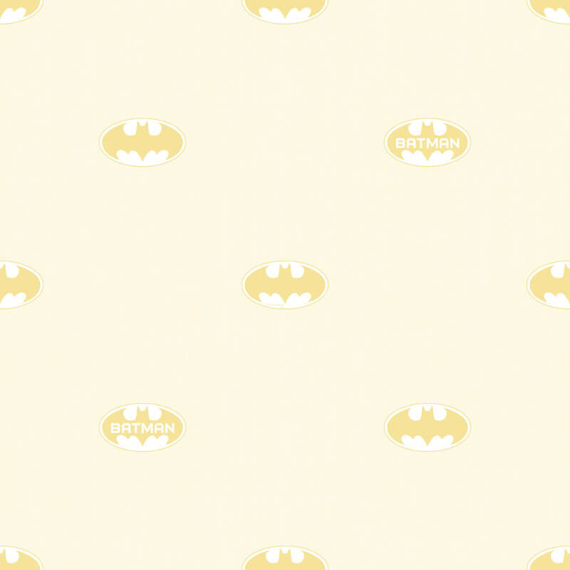 Galerie Batman Logo Cream Wallpaper - BT9004-3