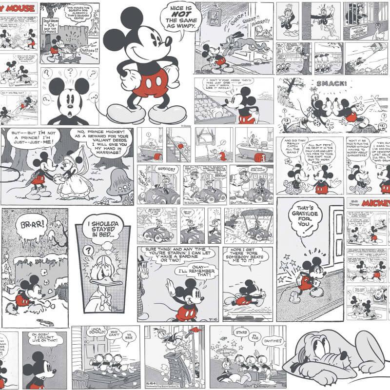 Galerie Disney Mickey Comic Black/White Wallpaper - DY3011-3