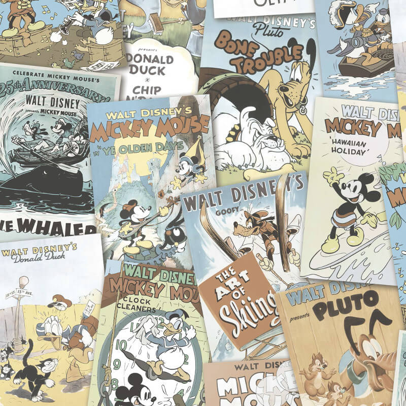 Galerie Disney Mickey & Friends Poster Pastel Wallpaper - DY3012-2