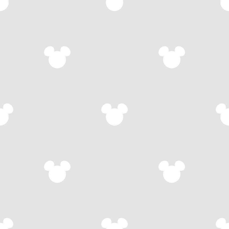Galerie Disney Mickey Mouse Logo Grey Wallpaper - MK3015-5