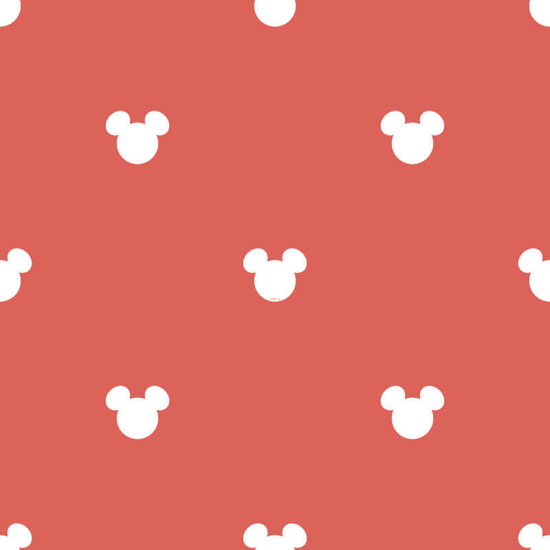 Galerie Disney Mickey Mouse Logo Red Wallpaper - MK3015-1