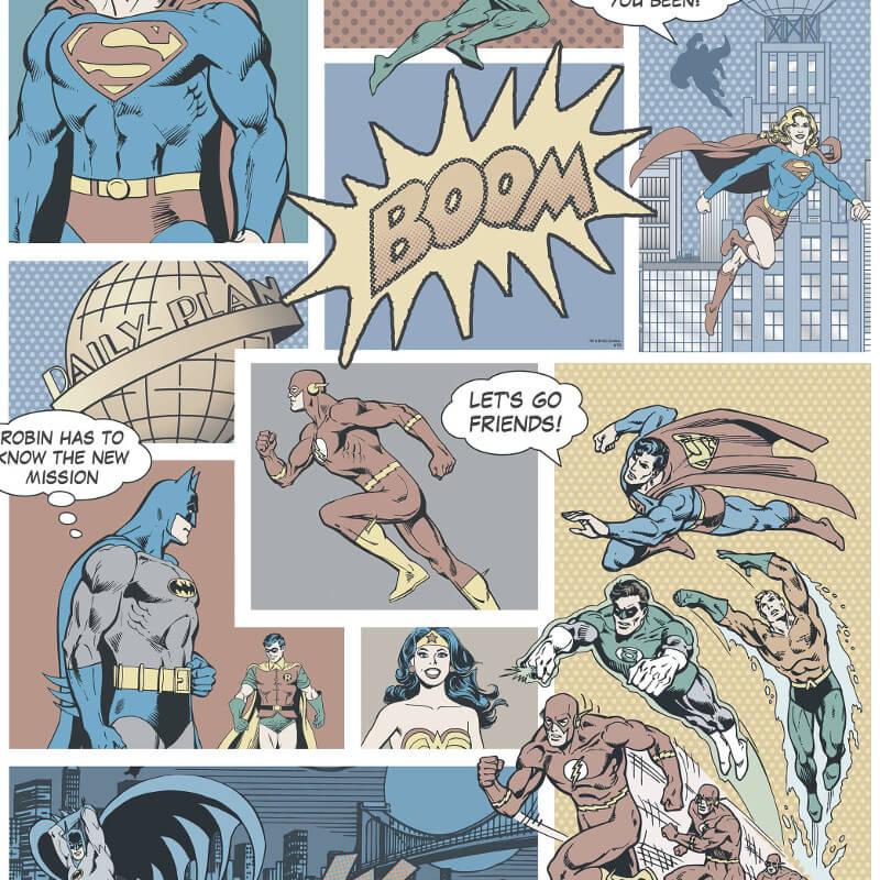 Galerie Justice League Pastel Wallpaper - DC9002-2