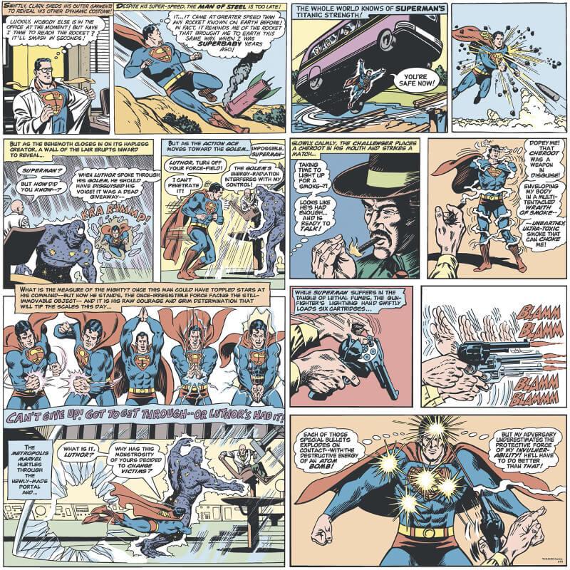 Galerie Superman Comic Red/Blue Wallpaper - SP9000-1