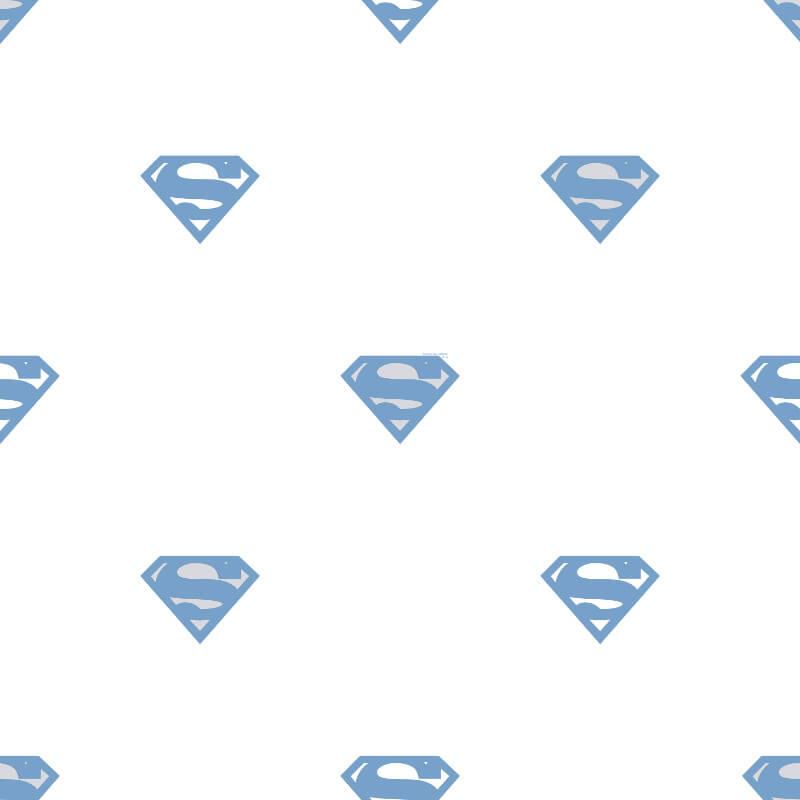 Galerie Superman Logo Blue/White Wallpaper - SP9003-2