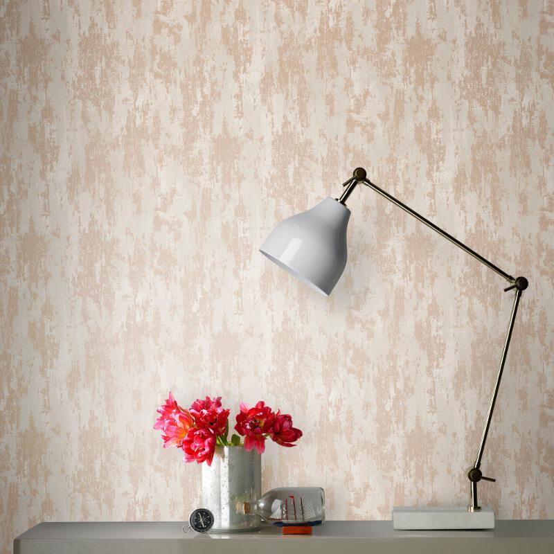 Graham & Brown Industrial Texture Copper Metallic Wallpaper - 104134
