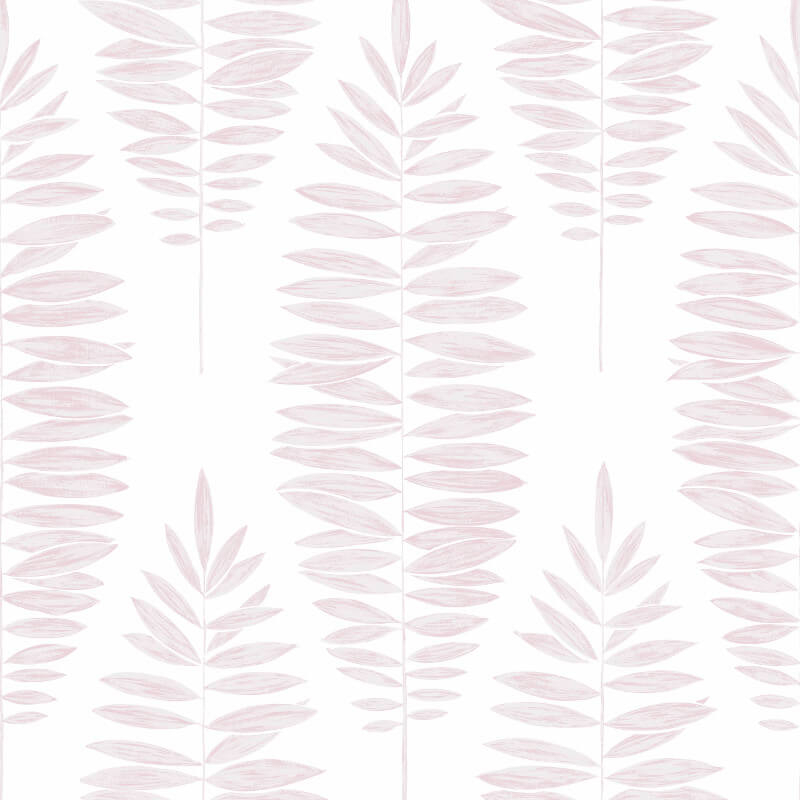 Graham & Brown Lucia Leaf White/Pink Metallic Wallpaper - 104143