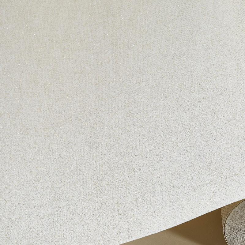 Grandeco Estelle Plain Cream Glitter Wallpaper - A17901