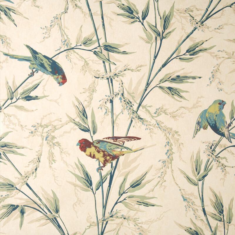 Little Greene Great Ormond Street Wallpaper in Parchment