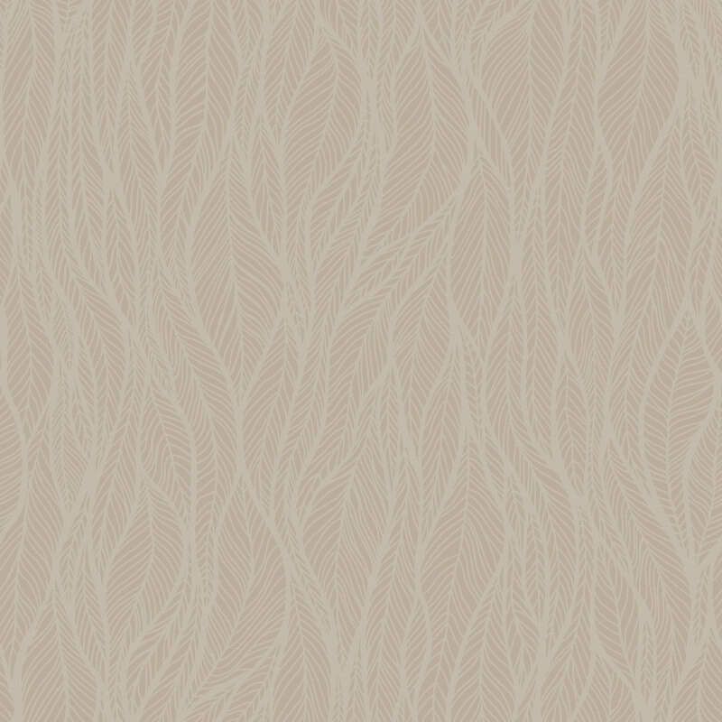 Holden Decor Betula Leaves Taupe Glas Beaded Wallpaper - 99311