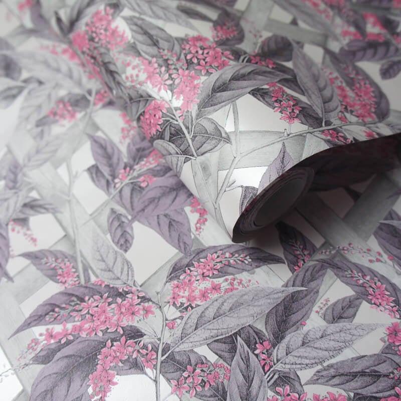 Holden Decor Cassidy Dusty Pink/Grey Wallpaper - 90172