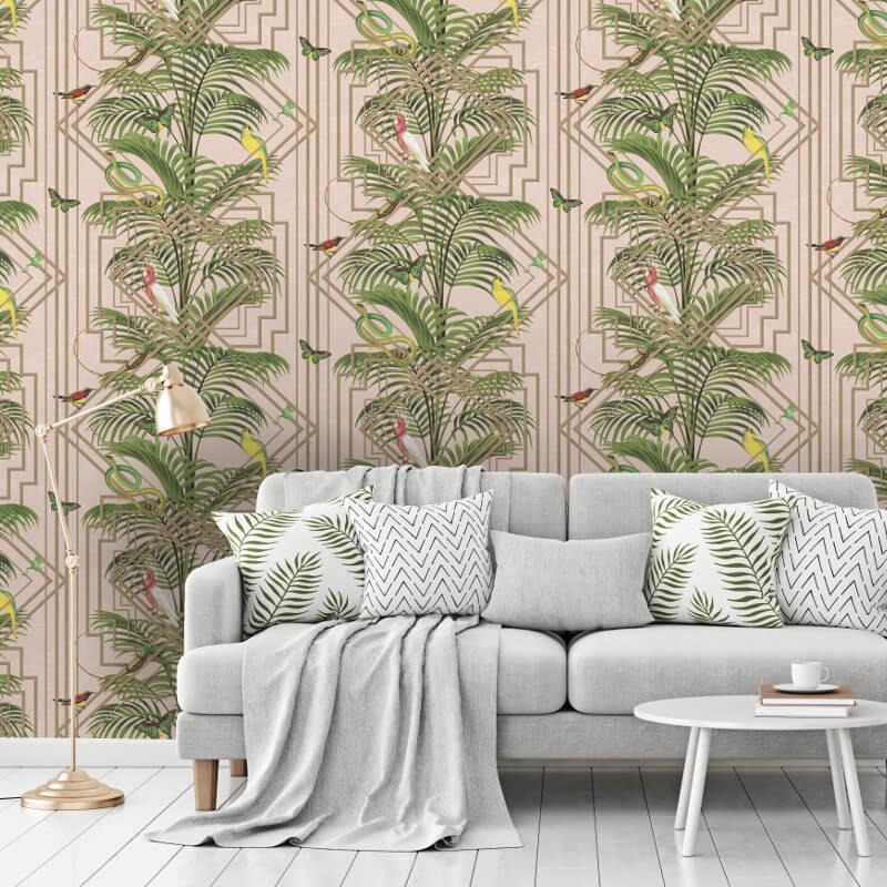 Holden Decor Congo Pink Wallpaper - 90200