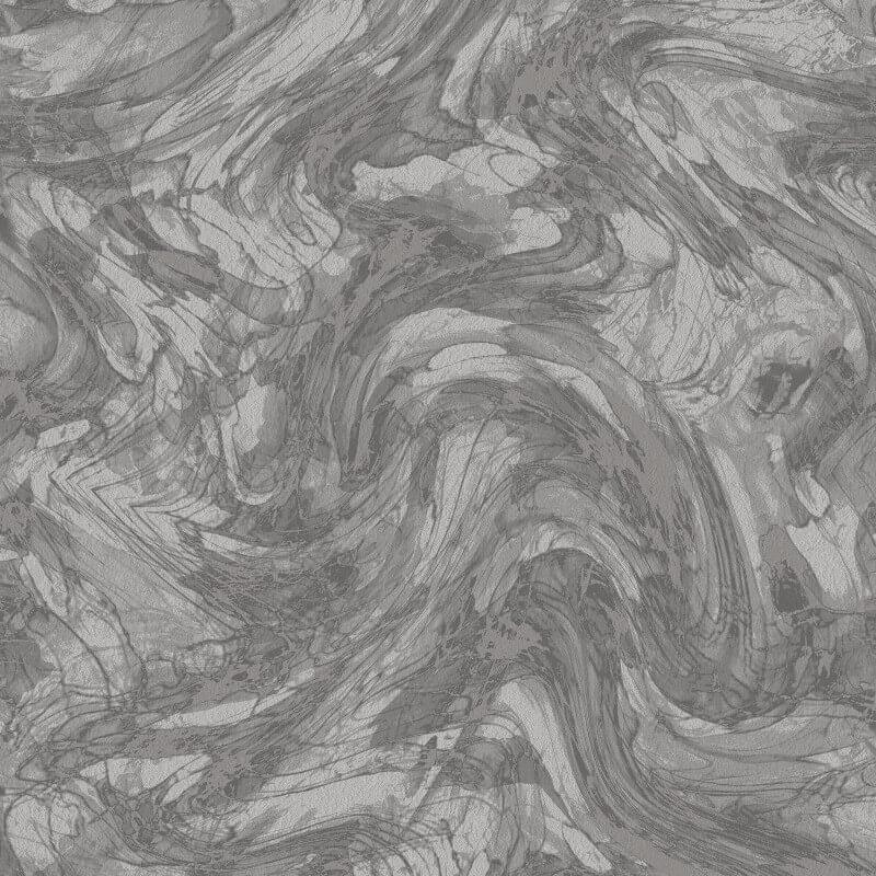 Holden Decor Enzo Marble Charcoal/Silver Metallic Wallpaper - 35660