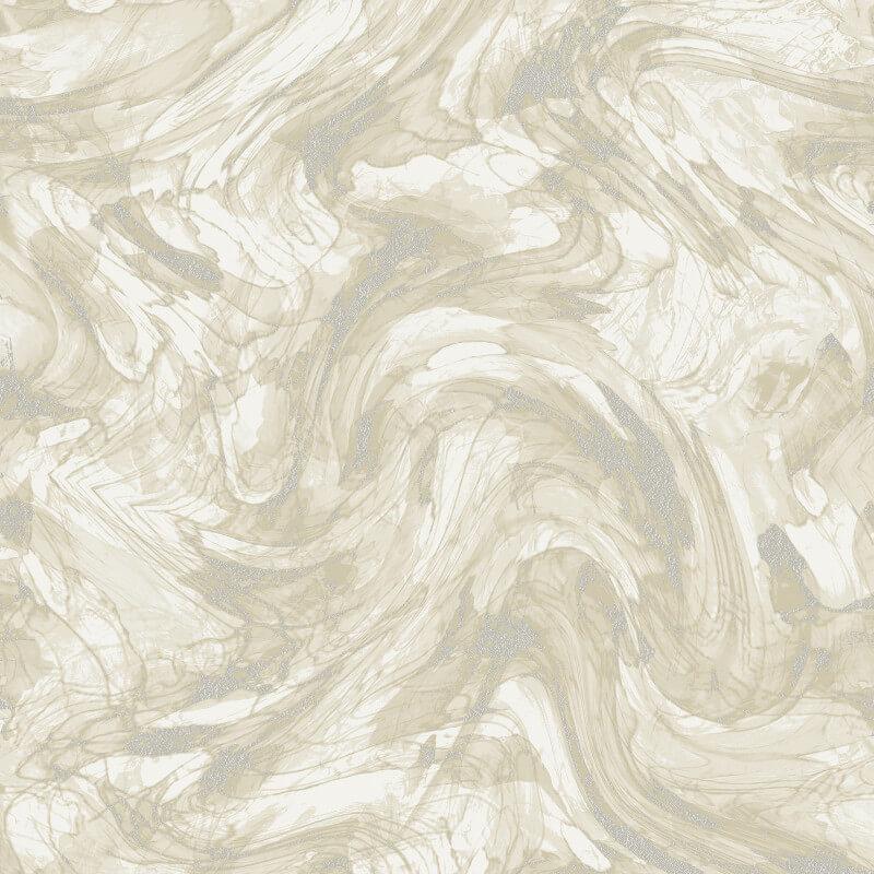 Holden Decor Enzo Marble Cream/Silver Metallic Wallpaper