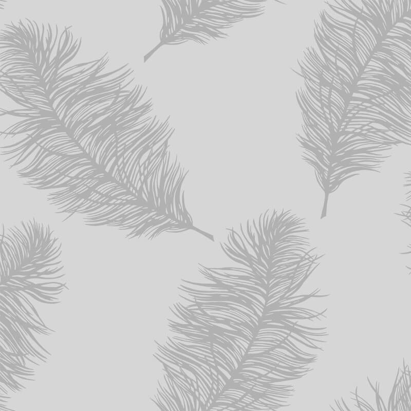 Holden Decor Fawning Feather Grey/Silver Metallic Wallpaper - 12626