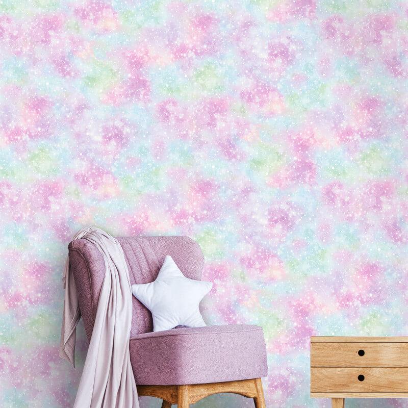 Holden Decor Mermaid Iridescent Texture Multi Glitter Wallpaper - 12795