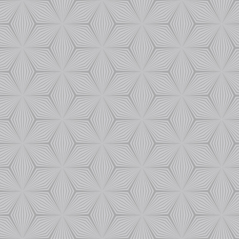 Holden Decor Sparkle Star Grey/Silver Metallic Wallpaper - 12618