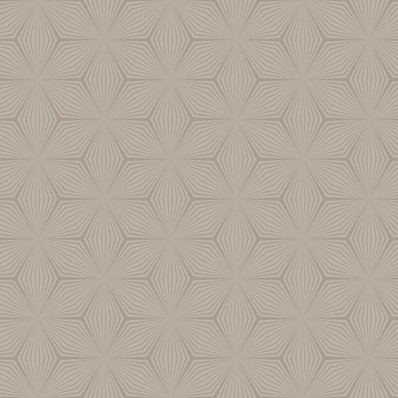 Holden Decor Sparkle Star Taupe/Gold Metallic Wallpaper - 12619
