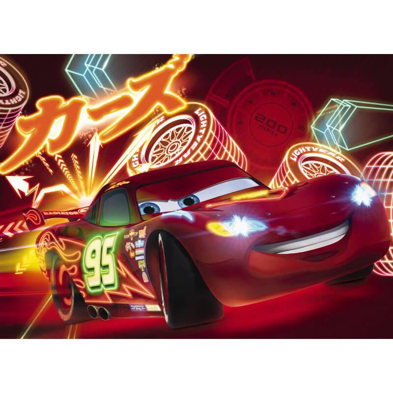 Komar disney cars neon wall mural 4 477 for Disney cars wall mural uk