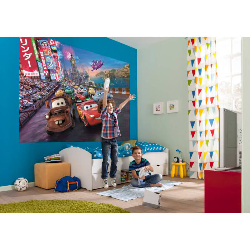 Komar disney cars race wall mural 4 401 for Disney cars wall mural uk