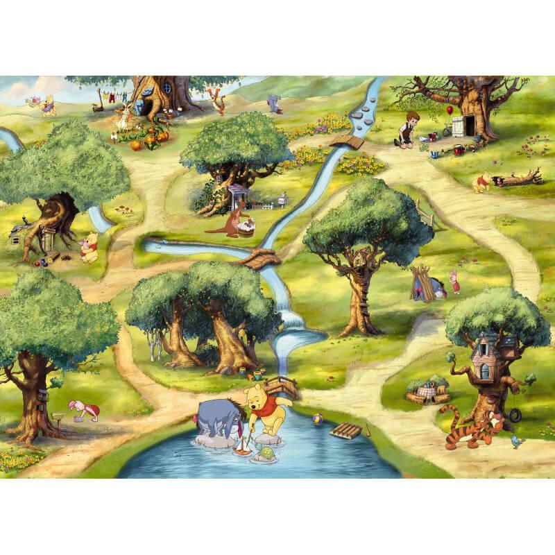 Komar Disney Winnie the Pooh Hundertmorgenwald Wall Mural - 4-453