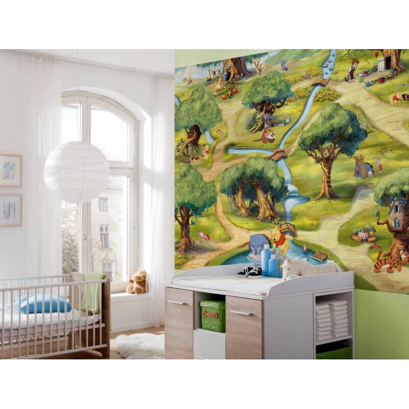 Komar disney winnie the pooh hundertmorgenwald wall mural for Classic winnie the pooh wall mural