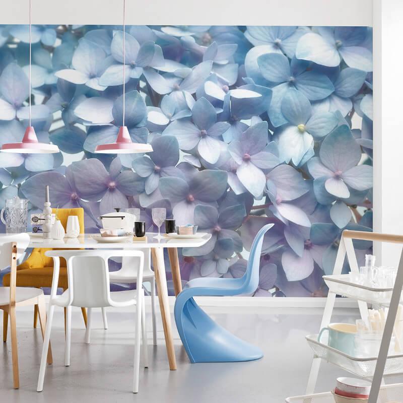 Komar Light Blue Floral Wall Mural - 8-961