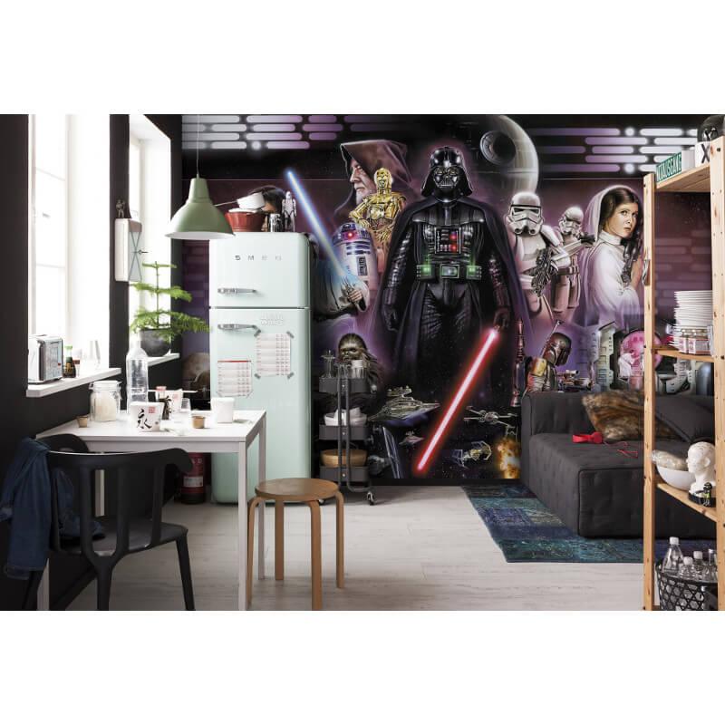 Star Wars Wall Murals komar star wars darth vader collage wall mural - 8-482
