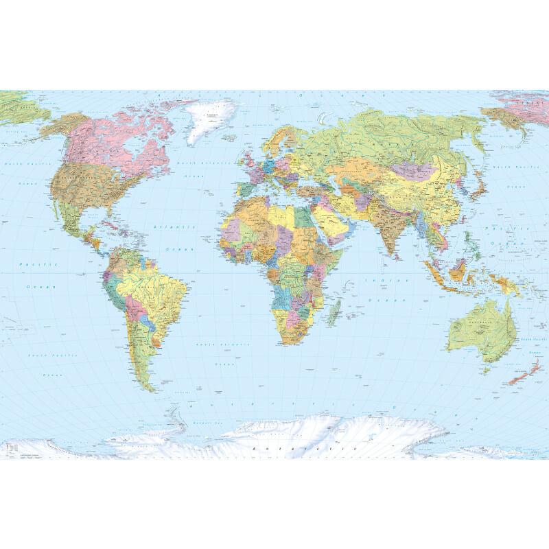 Komar World Map Wall Mural - XXL4-038
